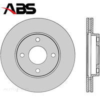 Front Brake Rotor PAIR FOR Ford Fiesta WP Q Focus LR 98-09 DR2100