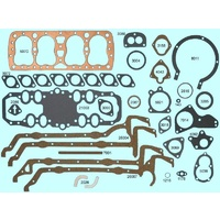 "Ford 221 SV V8 21 Stud Flathead 65-85 HP Full Gasket Set 3 1/16"" 32-38 Copper"