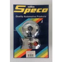 "Speco Chrome 2 5/8"" Gauge Pod Holder Mount with Fitting Kit 535-01"
